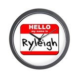 Hello my name is Ryleigh Wall Clock