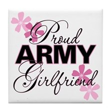 Proud Army Girlfriend Tile Coaster