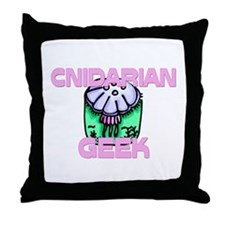 Cnidarian Geek Throw Pillow