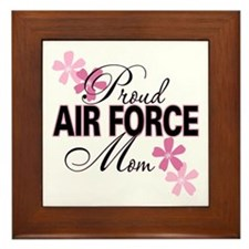 Proud Air Force Mom Framed Tile