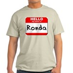 Hello my name is Ronda Light T-Shirt