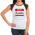 Hello my name is Ronda Women's Cap Sleeve T-Shirt