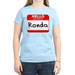 Hello my name is Ronda Women's Light T-Shirt