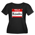Hello my name is Ronda Women's Plus Size Scoop Nec