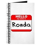Hello my name is Ronda Journal