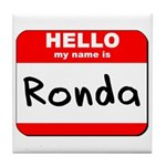 Hello my name is Ronda Tile Coaster