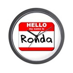 Hello my name is Ronda Wall Clock