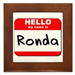 Hello my name is Ronda Framed Tile