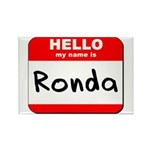 Hello my name is Ronda Rectangle Magnet