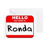 Hello my name is Ronda Greeting Card
