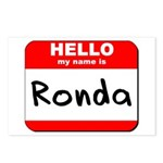 Hello my name is Ronda Postcards (Package of 8)