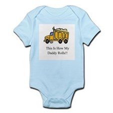 Dump Truck This Is How My Dad Infant Bodysuit