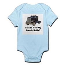 Semi Truck This Is How My Dad Infant Bodysuit