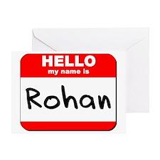 Hello my name is Rohan Greeting Card