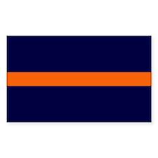 Auburn Thin Orange Line Rectangle Sticker 10 pk)