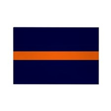 Auburn Thin Orange Line Rectangle Magnet (10 pack)