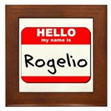 Hello my name is Rogelio Framed Tile
