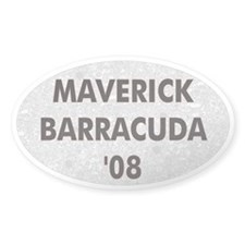 Maverick Barracuda '08 Oval Bumper Decal