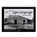 SIGN LANGUAGE calendar black and white photos