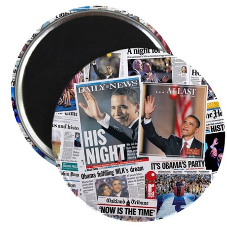"Obama Nominated: Newspaper 2.25"" Magnet (10 pack)"