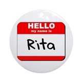 Hello my name is Rita Ornament (Round)