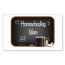Homeschooling Mom Rectangle Decal