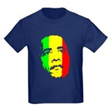Obama Green Gold Red Face T