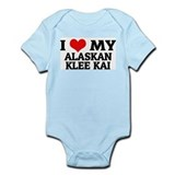 I Love My Alaskan Klee Kai Infant Creeper