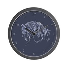 Horse Head Art Wall Clock