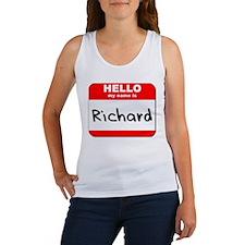 Hello my name is Richard Women's Tank Top