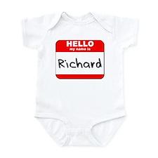 Hello my name is Richard Infant Bodysuit