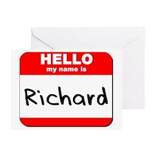 Hello my name is Richard Greeting Card