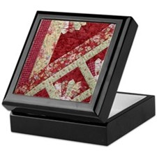 red & yellow fan Keepsake Box