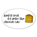 Band is Great Oval Sticker (10 pk)
