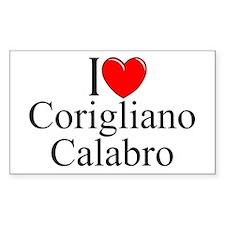 """""""I Love (Heart) Corigliano Calabro"""" Decal"""