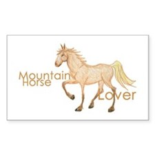 Mountain Horse Rectangle Decal