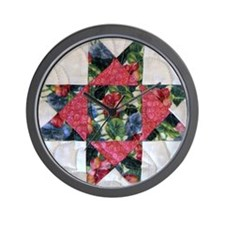 Floral Star Wall Clock
