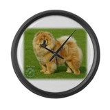 Chow Chow 9B008D-17 Large Wall Clock