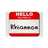 Hello my name is Rhiannon Rectangle Magnet (10 pac