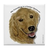 Golden Retriever GrandDog Tile Coaster