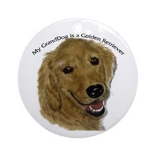 Golden Retriever GrandDog Ornament (Round)
