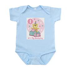 Teddy Bear Birthday 1st Infant Bodysuit