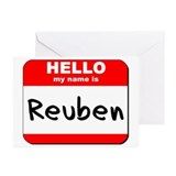 Hello my name is Reuben Greeting Cards (Pk of 10)