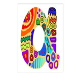 Monogram A Postcards (Package of 8)