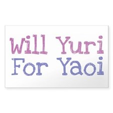 Will Yuri for Yaoi Rectangle Decal