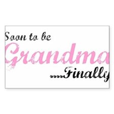 Soon to be Grandma Rectangle Decal