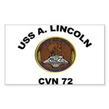 USS Abraham Lincoln CVN-72 Rectangle Decal