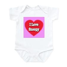 I Love Snoopy Infant Bodysuit