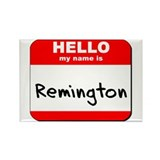 Hello my name is Remington Rectangle Magnet (10 pa