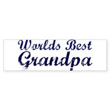 Worlds Best Grandpa Bumper Bumper Sticker